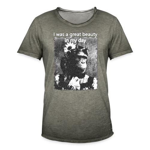 Funny Chimpanzee Old Age Joke Design - Men's Vintage T-Shirt