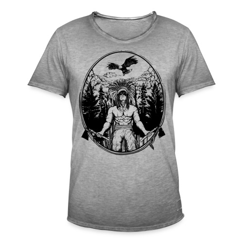 Indianer Krieger - Männer Vintage T-Shirt