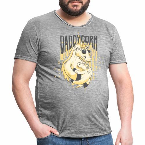 Daddycorn - Einhörner für echte Papas - Männer Vintage T-Shirt