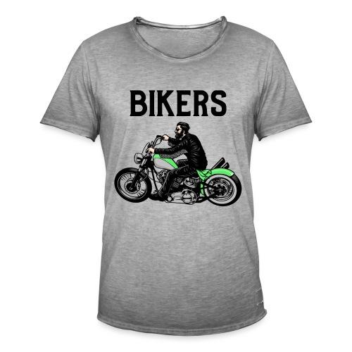 Green bikers - T-shirt vintage Homme