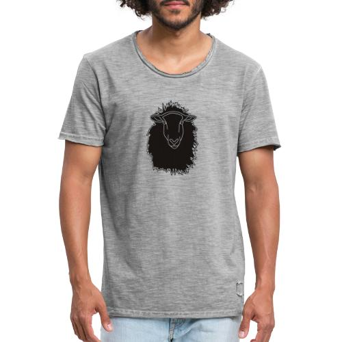 Schwarzes Schaf Logo - Männer Vintage T-Shirt