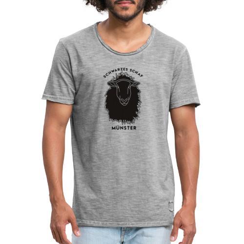 Schwarzes Schaf Logo & Schrift - Männer Vintage T-Shirt