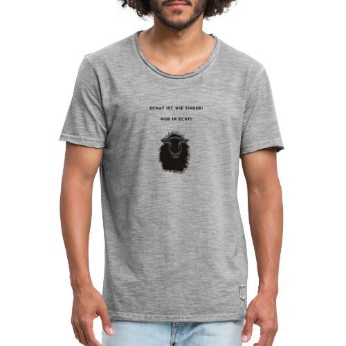 Schaf Ist wie Tinder Motto - Männer Vintage T-Shirt