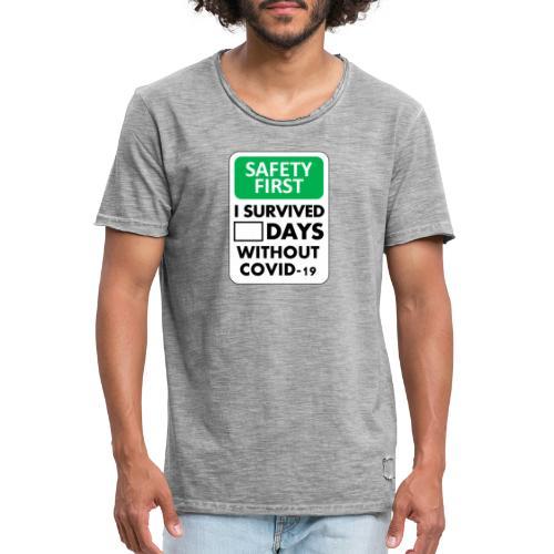 La sécurité d'abord sans Covid-19 - T-shirt vintage Homme
