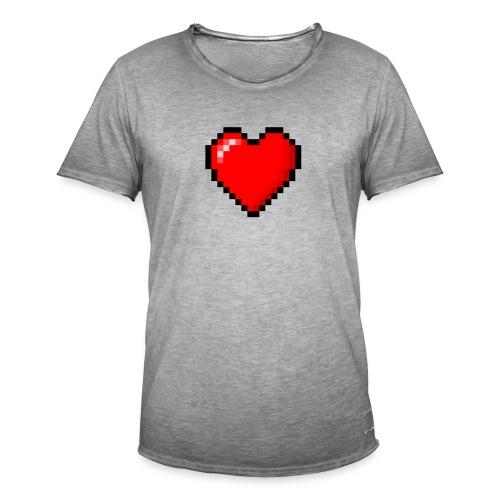 8bit heart - Maglietta vintage da uomo