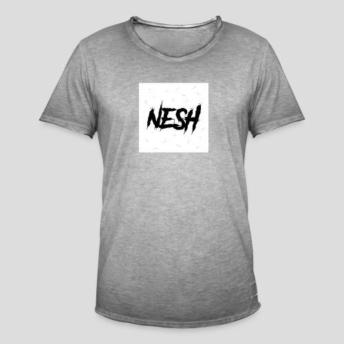 Nesh Logo - Männer Vintage T-Shirt