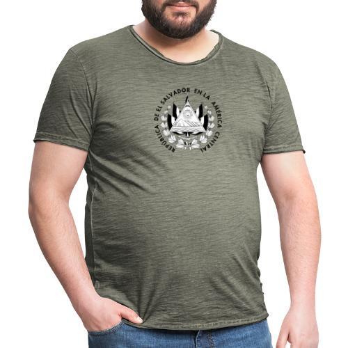 escudo de El Salvador - Camiseta vintage hombre