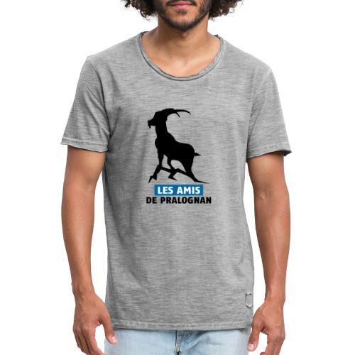 Logo Les Amis de Pralo grand noir bouquetin - T-shirt vintage Homme