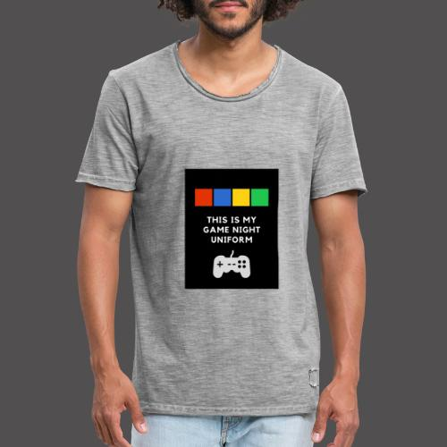 Game night uniform - Camiseta vintage hombre