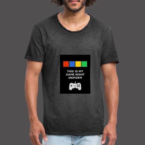 Game night uniform - Camiseta vintage hombre