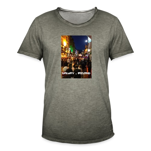 GALWAY IRELAND SHOP STREET - Men's Vintage T-Shirt