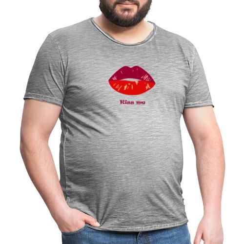 kiss me - T-shirt vintage Homme