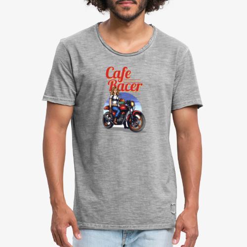 Cafe Racer - Männer Vintage T-Shirt