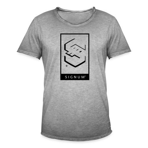 signumGamerLabelBW - Men's Vintage T-Shirt