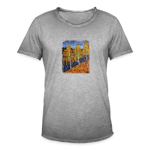 Syksyn koivut - Miesten vintage t-paita