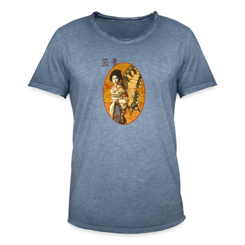 Vintage Japanese Geisha Oriental Design - Men's Vintage T-Shirt