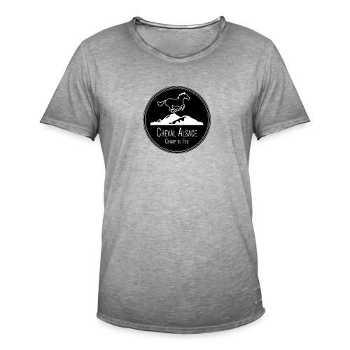 cheval alsace noir - T-shirt vintage Homme