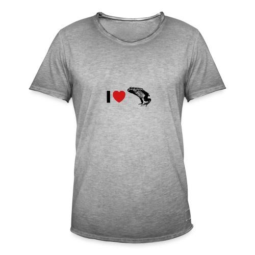 I ❤️ Pfeilgiftfrosch - Männer Vintage T-Shirt