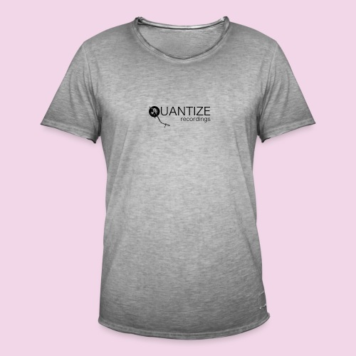 Quantize Black Logo - Men's Vintage T-Shirt
