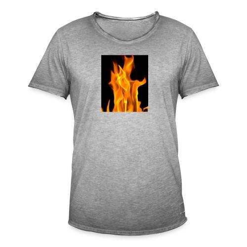 Flamme - Vintage-T-skjorte for menn