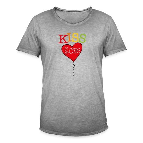 HEART LOVE - Mannen Vintage T-shirt