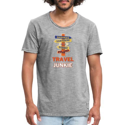 traveljunkie - i like to travel - Männer Vintage T-Shirt