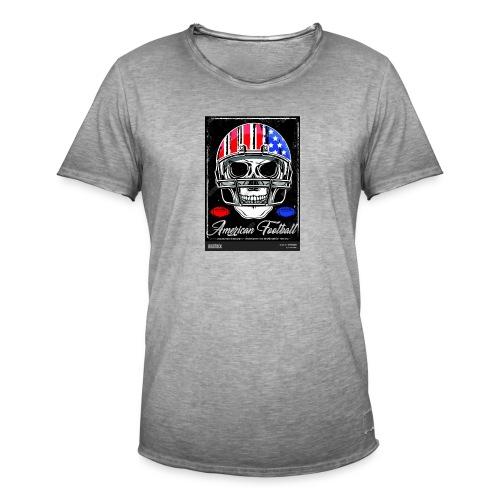 hodeskalle - Vintage-T-skjorte for menn