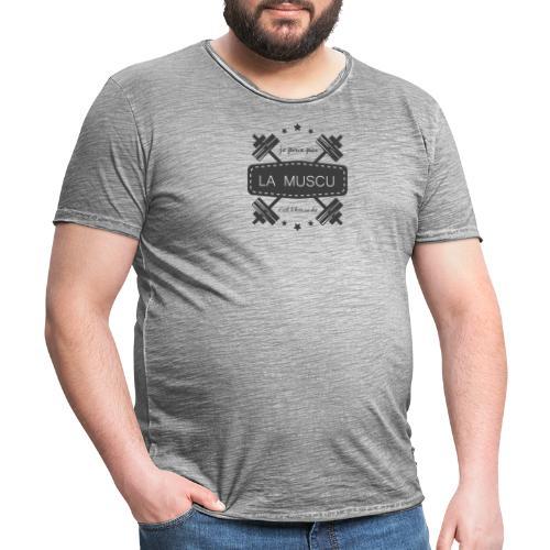 Muscu Transparent - T-shirt vintage Homme