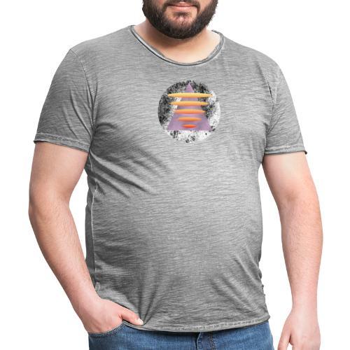 Triangle Gate - Vintage-T-skjorte for menn