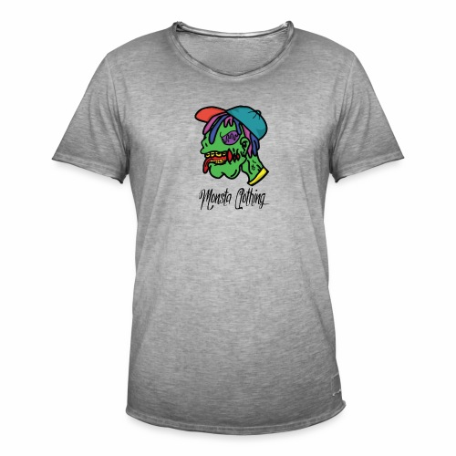 Monsta T-Shirt With Text - Men's Vintage T-Shirt