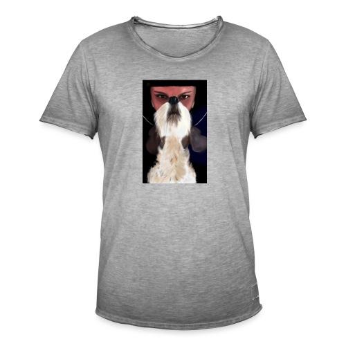 She and jack russell terrier - Koszulka męska vintage