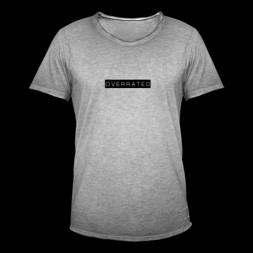 Overrated Black white - Mannen Vintage T-shirt
