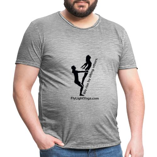 AcroYoga: We rise by lifting others. - Men's Vintage T-Shirt