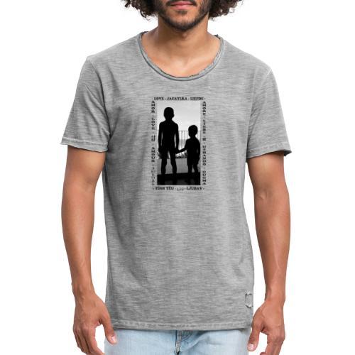 Fratelli - Maglietta vintage da uomo