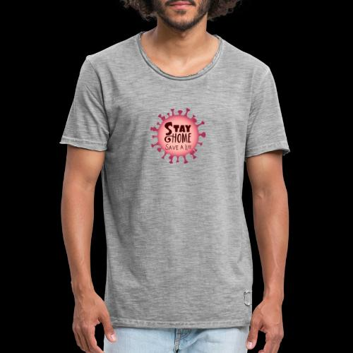 stay at home 5 - Men's Vintage T-Shirt