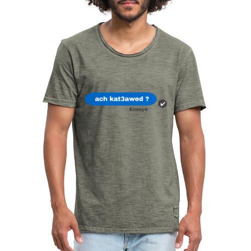 ach kat3awed messenger - T-shirt vintage Homme