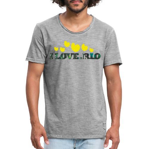 ILOVE.RIO TROPICAL N°2 - Men's Vintage T-Shirt