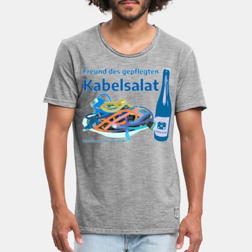 Freund des gepflegten Kabelsalat - Comic - Männer Vintage T-Shirt