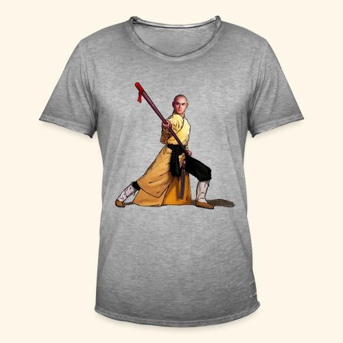 Shaolin Warrior Monk - Mannen Vintage T-shirt