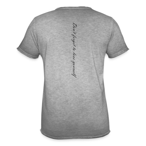 Don't forget to love yourself - Männer Vintage T-Shirt