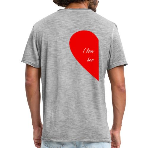 i love her - Camiseta vintage hombre