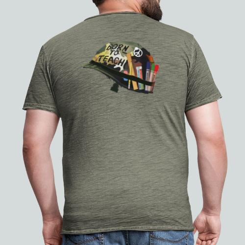 Born to teach - AAS - T-shirt vintage Homme