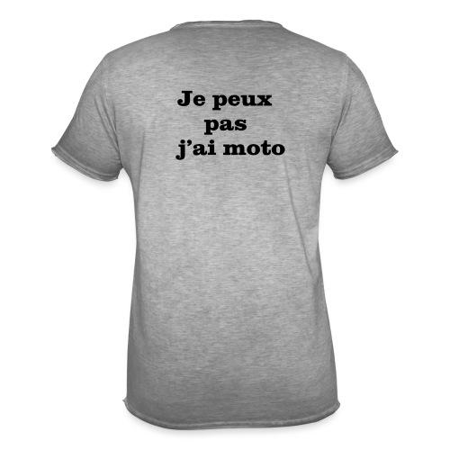 Je peux pas j'ai moto - T-shirt vintage Homme