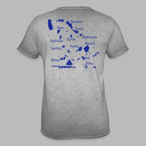Kykladen Griechenland Crewshirt - Männer Vintage T-Shirt