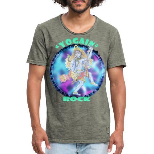 YogaIn Rock - Maglietta vintage da uomo