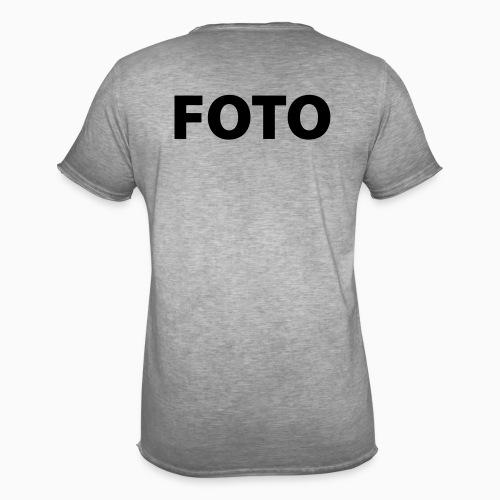 FOTO (Svart tryck) - Vintage-T-shirt herr