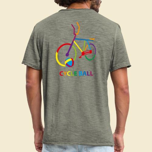 Radball | Cycle Ball Rainbow - Männer Vintage T-Shirt