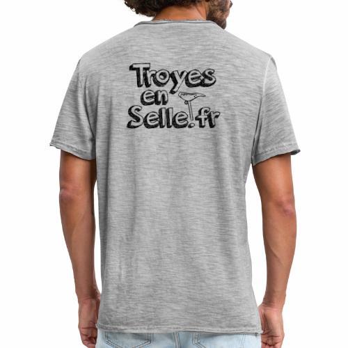 logo Troyes en Selle noir - T-shirt vintage Homme