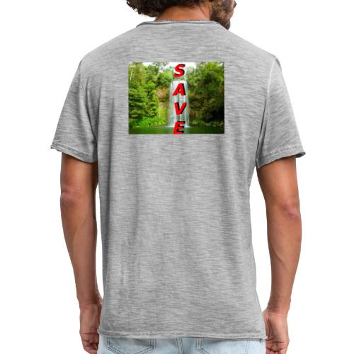 Waterfale Save - Männer Vintage T-Shirt