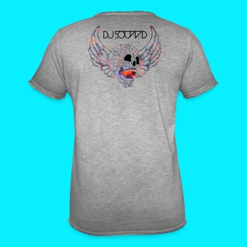 SKULL DJ5OUND - Männer Vintage T-Shirt